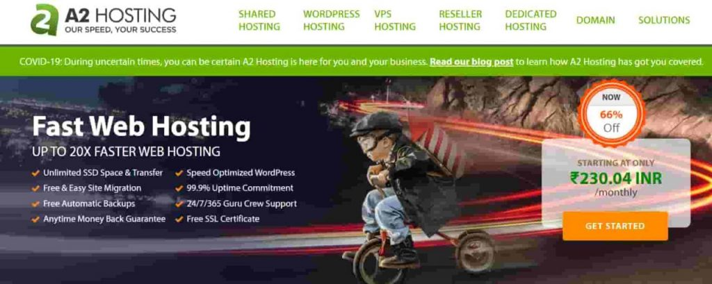 A2Hosting Homepage Fastest Web Hosting For WordPress
