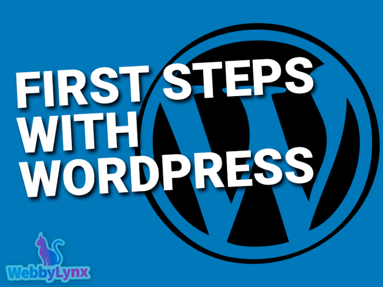 First Steps with WordPress