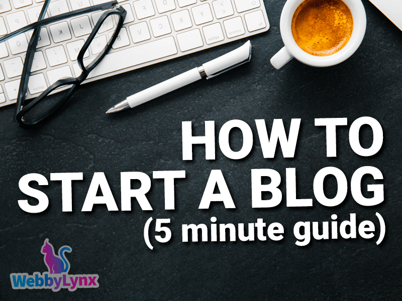 how to start a blog in 5 minutes min